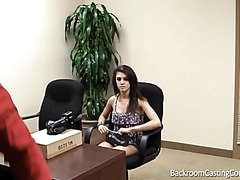 Anal virgin gets her asshole slammed