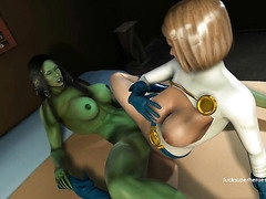She Hulk and Power Girl