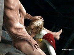Powergirl tames the beast