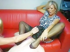 Exotic Amateur Shemale movie with Threesome, Stockings scenes