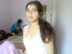 Indian husband wants his hot gf to strip for him