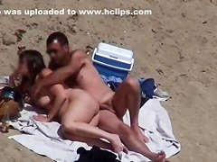Hot amateur couple fuck video with me on a beach