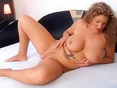 Blonde mature BBW slut showing off her hot body