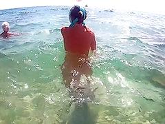 Urlaub 2017 Camping - Wir unter Wasser nackt!