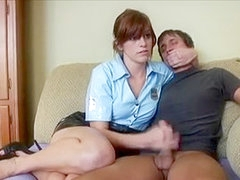Female Cop Punishes Innocent Man WF