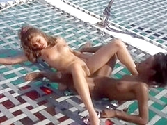 A Black bitch fuck with her white boyfriend on yacht