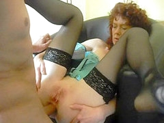 Horny grannies love having anal sex and facial