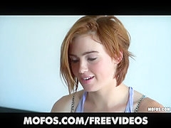 Merry redhead non-professional Jodi Taylor is convinced to try anal