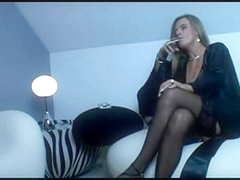 Teasing video with a hot BBW MILF in a smooth silk gown