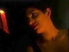 Three hot French sluts in hot lesbian threesome sex