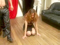 Tied up submissive slut whipped and tortured hard