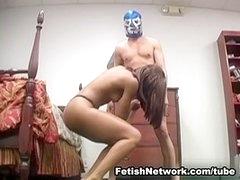 The Ebony Goddess Kicks the Stalker's Naked Balls
