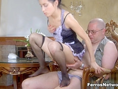 HornyOldGents Video: Veronica and Leonard B