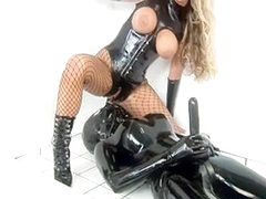 Way-Out Rubber Fucking Blonde Latex