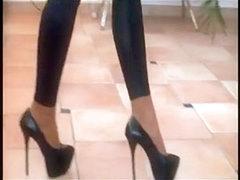 Shiny spandex porn video for those who love lycra sex